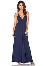 Supreme Jersey Halter Maxi Dress in Nautical