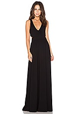 Supreme Jersey Cut Out Maxi Dress in Black