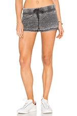 Burnout Terry Tied Waist Short in Black