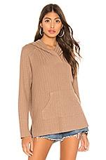Bobi Topanga Sweater Knit Hoodie in Tan