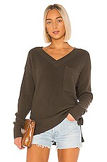 Bobi BLACK Cozy Cotton Sweater in Army