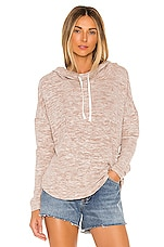 Bobi Brushed Heather Knit Pullover in Blush