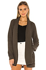 Bobi BLACK Cozy Cotton Cardigan in Army