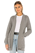 Bobi BLACK Cozy Cotton Cardigan in Heather Grey