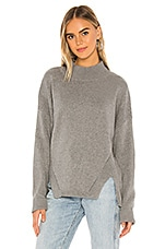Bobi BLACK Cozy Cotton Sweater in Heather Grey