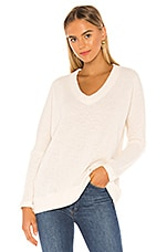 Bobi Soft Sweater Knit Pullover in Ivory