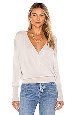 Bobi BLACK Fine Viscose Sweater in Tan