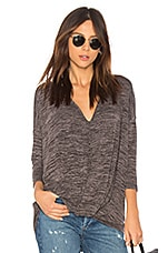 Bobi Heather Knotted Sweater in Grey