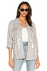 Bobi BLACK Cruise Stripe Lightweight Jacket in Grey