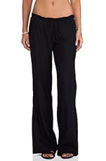 Linen Wide Leg Pant in Black