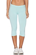 Cotton Lycra Crop Legging en Bleu Bulles