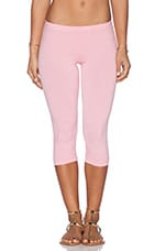 Cotton Lycra Crop Legging in Bunny Pink