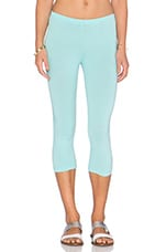 Cotton Lycra Legging in Blu Beach