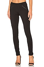 Stretch Twill Zipper Pocket Legging en Noir