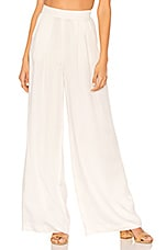 BLACK Modal Twill Wide Leg Pant in White
