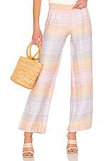 Bobi Sunset Linen Pant in Multi