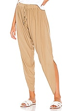Bobi Draped Modal Jersey Jogger in Hemp