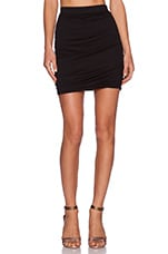 Modal Jersey Mini Skirt in Black