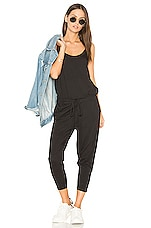 Bobi Supreme Jersey Sleeveless Jumpsuit in Black