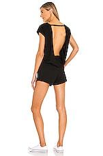 Bobi Supreme Jersey Short Sleeve Romper in Black