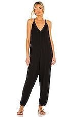 Bobi Draped Jumpsuit in Black