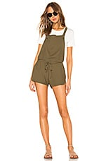 Bobi Knit Twill Romper in Fatigues