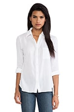 Collared Button Down Shirt in White