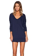 Light Weight Jersey Long Sleeve Dolman V Neck Tunic in Soldier
