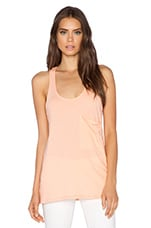 Light Weight Jersey Racerback Tank in Peachy