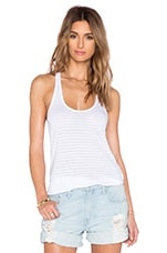 Skinny Tonal Stripe Tank in White
