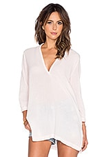 Gauze V Neck Blouse en Angel Pink