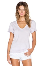 Light Weight Jersey V Neck Pocket Tee in Sweet Lilac