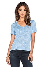 Burnout V Neck Pocket Tee in Tropez