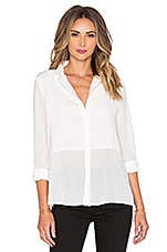 BLACK Georgette Sheer Blouse en Blanc