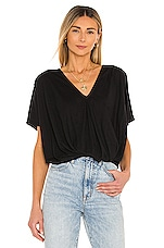 Bobi Feather Weight Jersey Knot Tee in Black