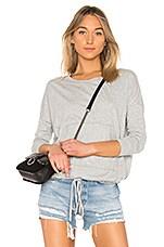 Bobi Jersey Long Sleeve Top in Heather Grey