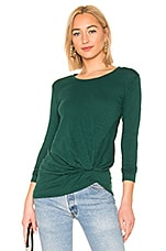 Bobi Marled Knot Long Sleeve Top in Spruce