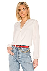 Bobi BLACK Date Night Chiffon Wrap Blouse in White