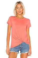 Bobi Vintage Jersey Knotted Tee in Taffy