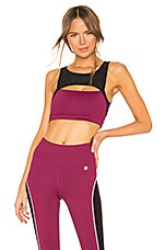 Body Language Raven Sports Bra in Mulberry & Mesh