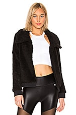 Body Language Bomber Jacket in Black