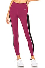Body Language Audrie Legging in Mulberry & Black Shimmer