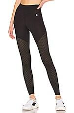Body Language Kayla Legging in Black & Mesh