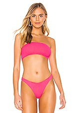 Bond Eye X BOUND The Seeker Bandeau Bikini Top in Neon Pink