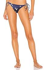 Bond Eye Mink Tie Side Bikini Bottom in Ink
