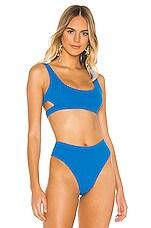 Bond Eye Heatwave Crop Bikini Top in Omo Blue