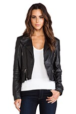 Black Orchid Vegan Moto Jacket in Black Night