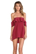 Emily Washed Silk Dress in Wine