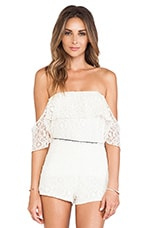 Emily Top in Ivory Lace White