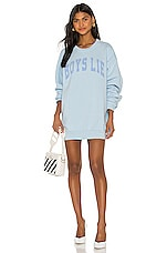 Boys Lie Catching Feelings Crewneck in Chambray